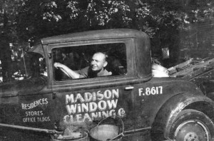 george gedko madison window cleaning work truck from 1930