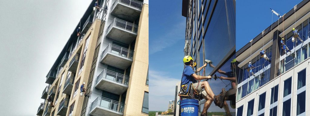 Specialist cleaning high rise windows