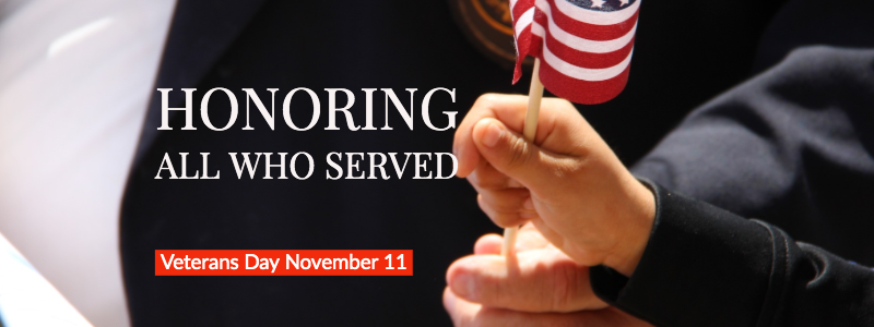 Honoring All Who Served Veterans Day 2019