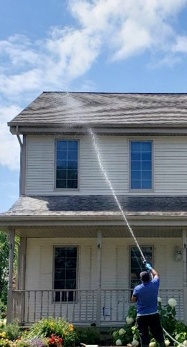 Madison Window Cleaning provides roof and siding washing for your home