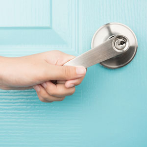 High-Touch Area cleaning and disinfecting service - doorknob