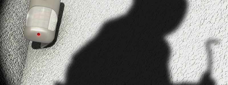 Motion Detector and shadow of a robber